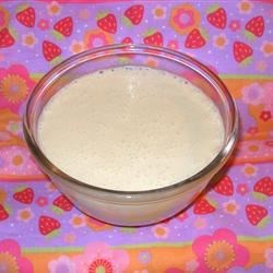 Sweetened Condensed Milk Recipe - This substitute for condensed milk is made by blending water, butter, sugar and dry milk.