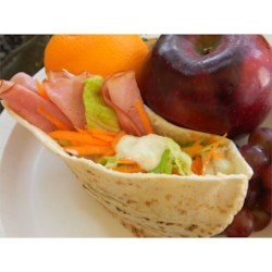 Lunch Box Pita Pockets Recipe - Shredded veggies and lunch meat are packed ahead of time so your kids can assemble the pita pocket by themselves. No more soggy bread!