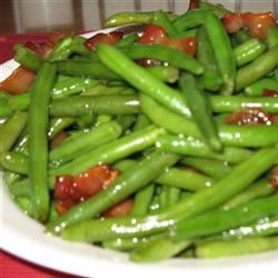 Airport Bob's Green Beans Recipe - A simple, sweet, green bean and bacon side that others will crave.