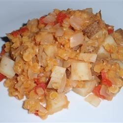Colombian Lentils Recipe - This is a basic recipe for lentils with tomato, onion, and potatoes.