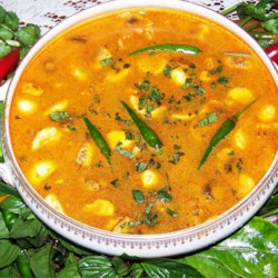 Thai Hot and Sour Soup Recipe - Packed with exotic flavor and spice, this simple chicken soup is an excellent starter to a Thai style dinner.