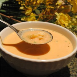 Luscious Lobster Bisque Recipe - White wine, heavy cream, and chicken or fish stock make the broth for this lovely bisque.  You will need an eight quart stockpot for this recipe.