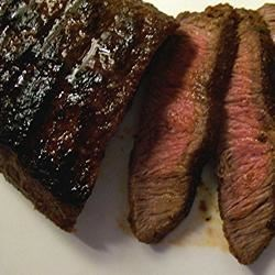 Flat Iron Steak with Three Pepper Rub