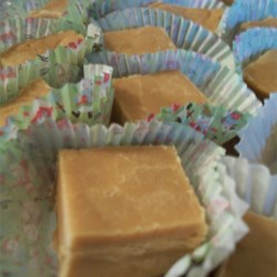 Penuche Sugar Fudge Recipe - This chocolate-free fudge with nuts is made with brown sugar and cream.