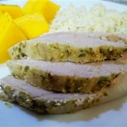 Grecian Pork Tenderloin Recipe - This zesty marinade makes tenderloins even more tender than they already are. Olive oil, garlic, fresh lime juice, and oregano coat the meat, sealed in a plastic bag for a few hours before grilling.