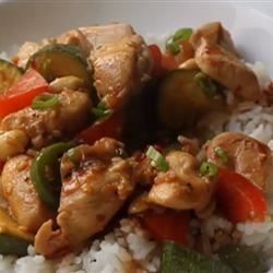 Kung Wow Chicken Recipe - This highly simplified, yet quite Americanized version of kung pao chicken is much more flavorful than your simple stir-fry.