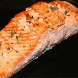 Thyme Salmon with Sage Pasta Recipe - Sage flavors egg noodles topped with marinated salmon in this all-in-one dish.