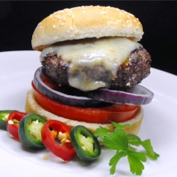 Jalapeno-Garlic-Onion Cheeseburgers Recipe - The three best foods in the world combined in a juicy grilled cheeseburger! These go great with Cowboy Mashed Potatoes!