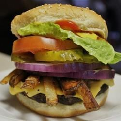 Hamburgers by Eddie Recipe - A simple way to spruce up your burgers. Cook out on the grill, or just fry in a pan indoors. Serve on buns with lettuce, tomato, ketchup, mustard and onions.