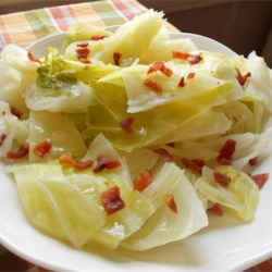 Irish Heritage Cabbage Recipe - This is a delicious, authentic Irish cabbage side dish.  If you can't find Irish bacon, regular works fine, just drain well.
