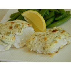 Baked Halibut Sitka Recipe - Halibut fillets baked in a creamy sauce with dill and green onions make a perfect dish for dinner parties or any night of the week.