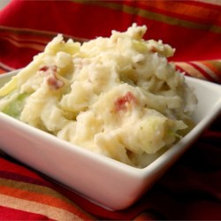 Diane's Colcannon Recipe and Video - I love the combination of potatoes, cabbage, onion, and bacon all through the cooler months of fall and winter. I attend an annual St. Paddy's Day party and this is the dish I'm always asked to bring...and I'm happy to say that the bowl comes home empty every time!