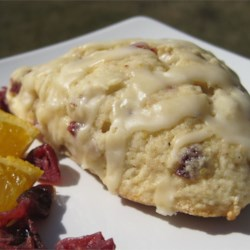 Cranberry Scones Recipe - A quick basic scone recipe with traditional holiday ingredients ... great treat for Christmas morning! Serve warm with butter and tea!