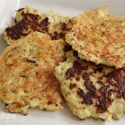 Cauliflower Fritters Recipe - Battered and fried cauliflower is a delicious way to eat cauliflower, and a great snack! These are wonderful when dipped in yogurt.
