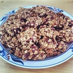 Banana oatmeal cookies with dates and walnuts!