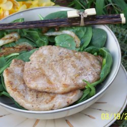 Vietnamese/Chinese Pork Chops Recipe - Vietnamese and Chinese flavors meld together in this fragrant marinade of fish sauce, lemon grass, ginger, five-spice powder, and soy sauce.