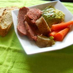 Corned Beef and Cabbage II Recipe - This recipe takes time but you won't be disappointed.  Give yourself a little luck o' the Irish with this Americanized version of an Irish feast. Serve with butter and Irish soda bread.
