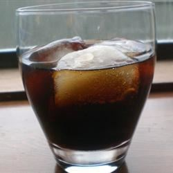 Mocha Cola Recipe - A cocktail made with coffee liqueur and cola - very simple and sweet.