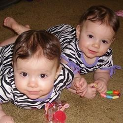 Abby and Ally...9 mos. old today! :)