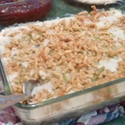 Green Bean Casserole II Recipe - A recipe we use throughout the year as well as for holidays. I have also had this made with cauliflower. Originally submitted to ThanksgivingRecipe.com.