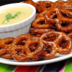 Spicy Party Pretzels Recipe - Who needs all the distractions offered by typical party mixes? It's the toasted, seasoned pretzels you really want! This recipe is simple, and particularly tasty when straight from the oven.