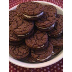 Homemade Chocolate Sandwich Cookies Recipe - This is a deliciously soft and chewy version of everyone's favorite chocolate sandwich cookie. Get out the cold milk!