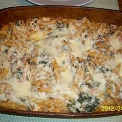Chicken, Spinach and Cheese Pasta Bake