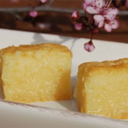 Butter Mochi Recipe - Butter and coconut milk flavor this sweet, baked, Japanese treat.