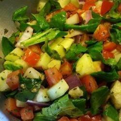 Delicious Tomato Cucumber Salad
