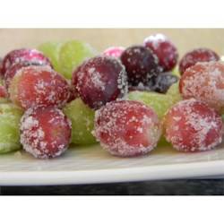 """Spa""ctacular Frozen Grapes Recipe - Frozen sugar-coated grapes are a perfect after-school snack, party appetizer, or late-night snack."