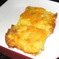 Good Morning Egg Bake Recipe - This breakfast casserole is extra cheesy with shredded Cheddar cheese and nacho cheese soup whisked into the eggs.