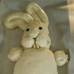 happy easter bunny bread