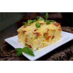 Easter Breakfast Casserole Recipe and Video - With bacon and vegetables in the mix, this egg and hash brown breakfast casserole is a step above the classic.