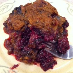 BJ's Easy Blackberry Cobbler Recipe - This recipe takes all of the fuss out of making cobbler and eliminates any doughy taste, because it uses a packaged lemon-poppy seed muffin mix to make the batter.