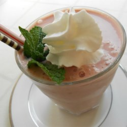 Best Smoothie Ever Recipe - Chocolate, strawberry, and banana make a perfect combination for this very smooth and creamy smoothie.