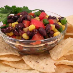 Black Bean Salsa Recipe - This thick, flavorful salsa will please everyone with it's exciting array of flavors and textures.