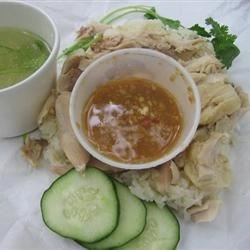 Nong's Khao Man Gai Recipe - Thai native Nong Poonsukwattana worked her way up from Portland kitchens, refining her recipe for khao man gai, saving her money and eventually landing her own spot within Portland's highly competitive food cart scene.