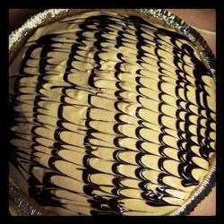 Peanut Butter Pie 2000 with chocolate syrup