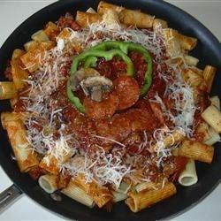 Rigatoni with Pizza Accents