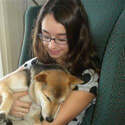me and my dog, Toshi