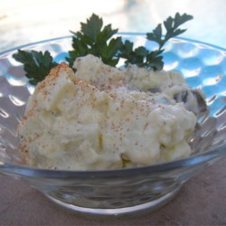 Benny's Potato Salad Recipe - This is my potato salad I have created for many family gatherings. The olives and dill relish give it a twist from the typical bland salad. Everyone always brags on me about it. Enjoy!