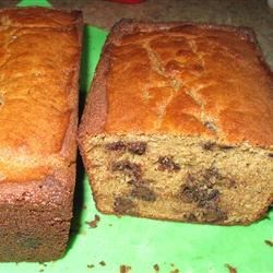 Peanut Butter Chocolate Chip Banana Bread Recipe - This banana bread is almost a cake. It has everything a kid could want, including chocolate chips and peanut butter. It's great for Easter brunch.