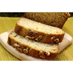 Sweet Banana Bread Recipe - My mom gave me this recipe and it's nice and sweet. I normally use three medium-large sized bananas. Nuts can be added, if desired.