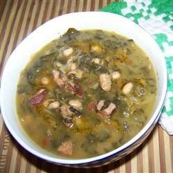 Swamp Soup (aka Turnip Green Soup)
