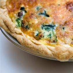 Spinach and Mushroom Quiche with Shiitake Mushrooms Recipe