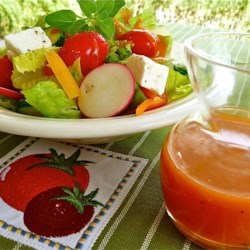Frenchie's Salad Dressing Recipe - Cayenne pepper, onion, garlic and Worcestershire sauce have their way with this delicious French-style dressing. The result is a robust dressing that lends itself to heartier salad ingredients. Makes a lot  - three and a half cups.