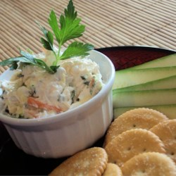Creamy Vegetable Sandwich Spread Recipe - This creamy veggie spread is easy to make and tastes great on slices of party rye, or in sandwiches