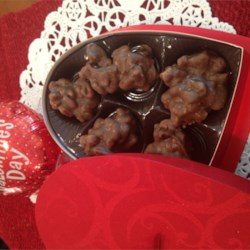 Chocolate Pralines, Mexican Style Recipe - This recipe makes the creamy chocolate and pecan pralines you find at the checkout stand in Mexican restaurants. The secret ingredient to their wonderful texture is a few melted marshmallows and plenty of pecans.