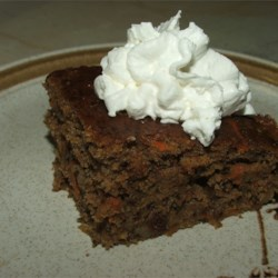 Apple, Carrot, Or Zucchini Cake Recipe - This is a terrific cake--it can be made with apples, carrots, or zucchini!  Serve with whipped cream.  Add some cinnamon, nutmeg, or cloves to the whipped cream for a lightly spicy treat!!