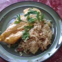 apple pecan chicken with brown rice